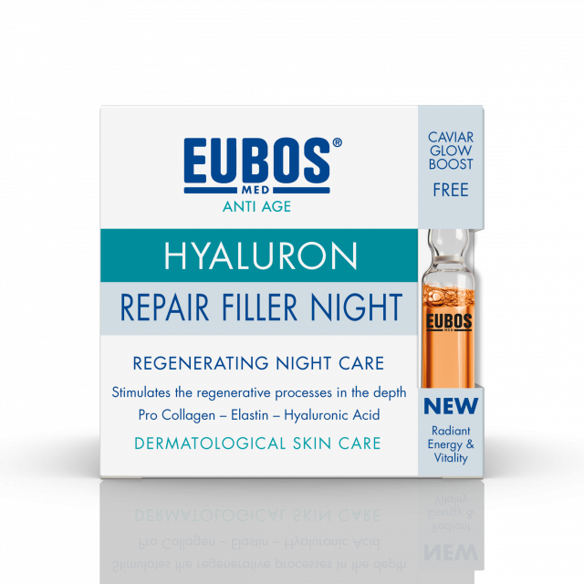 ANTI AGE HYALURON REPAIR FILLER NIGHT 50ML + GRATIS IN A SECOND CAVIAR AMPULA 2ML